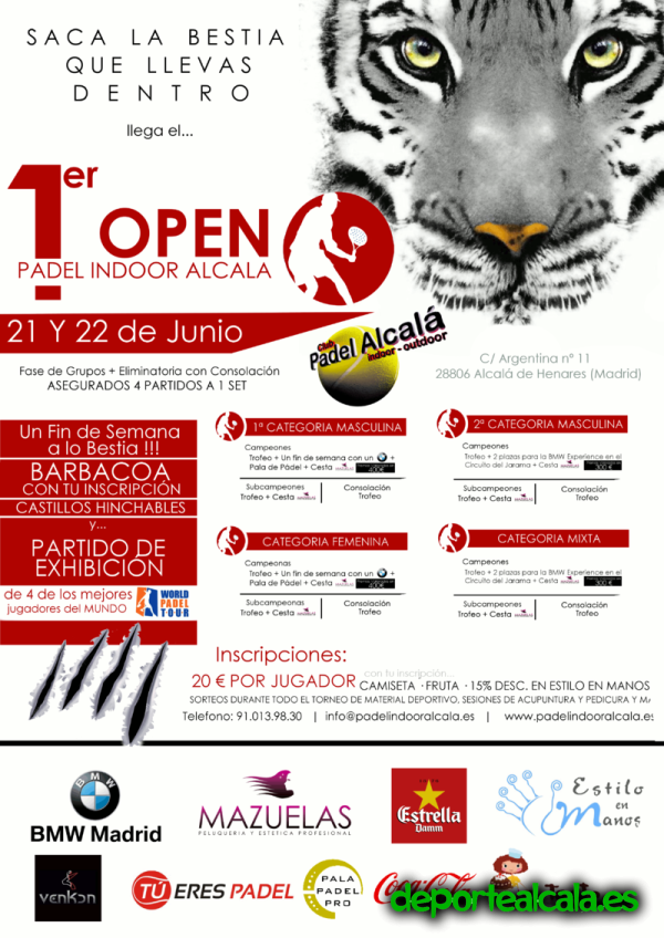 I Open Padel Indoor Alcalá – 21 y 22 de Junio