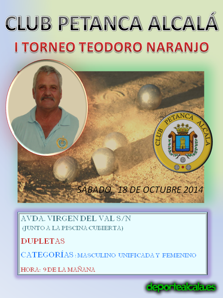 Este sábado se celebra un torneo homenaje a Teodoro Naranjo