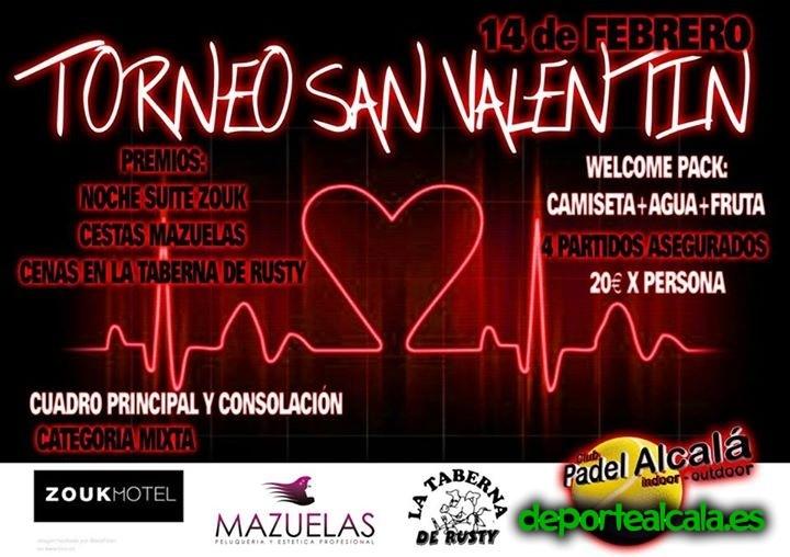 Padel Indoor Alcalá organiza el 2º Torneo San Valentín