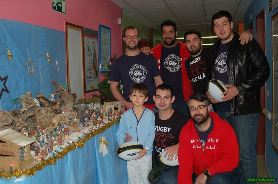Los Reyes Magos del Rugby Alcalá visitaron el Príncipe de Asturias