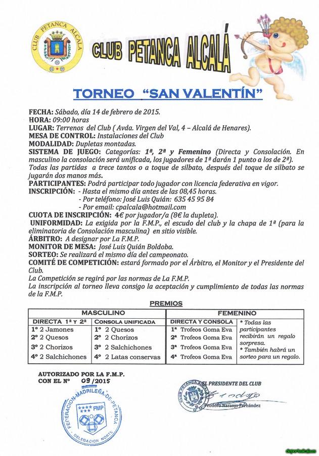 El Club Petanca Alcalá organiza el torneo «San Valentín»