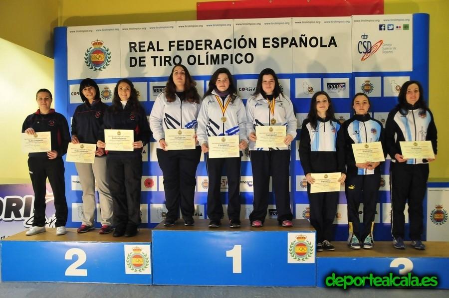 El Club de Tiro Quijote se proclama subcampeón de España en Pistola Aire Damas