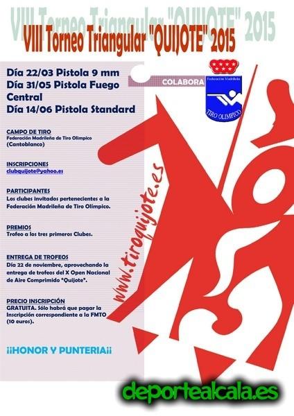 El Club de Tiro Quijote organiza el VIII Triangular Quijote 2015
