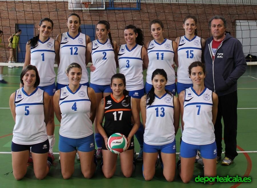 Los senior femeninos del CV Alcalá se convierten en campeones de Madrid