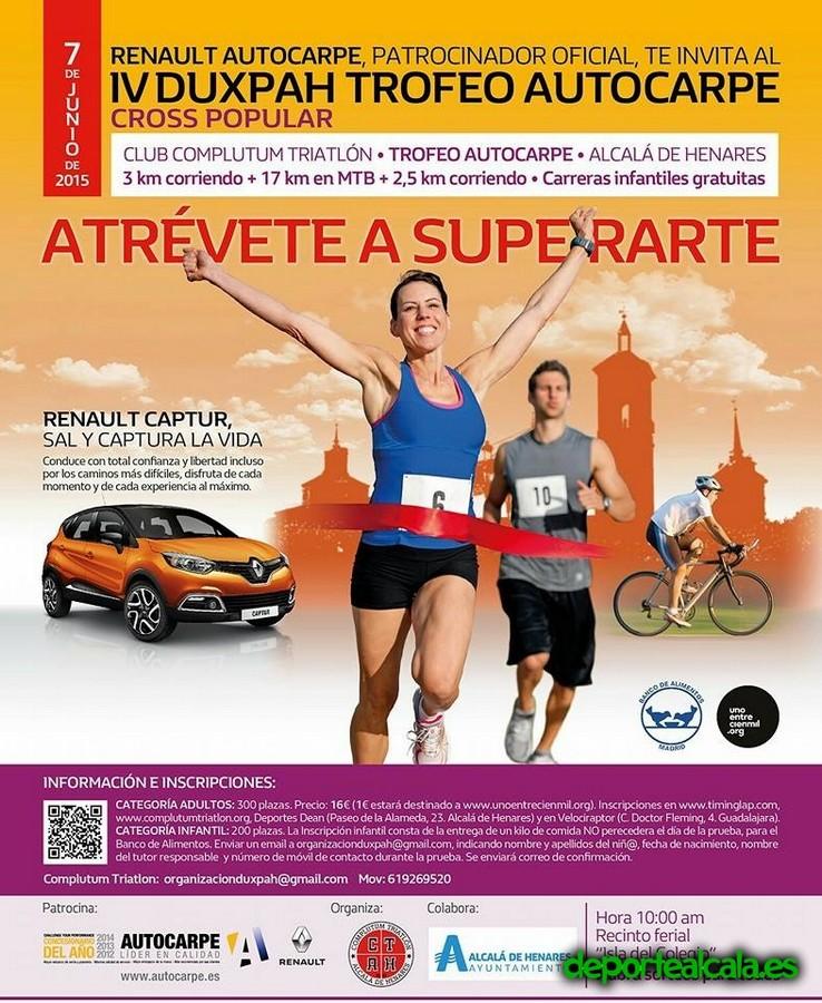 Complutum Triatlón celebrará el IV DUXPAH el próximo 7 de junio