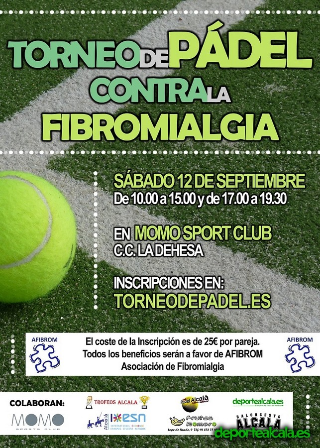 Inscríbete en el Torneo Benéfico de Pádel contra la Fibromialgia