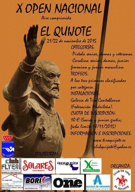 """El club de Tiro El Quijote celebra el X Open Nacional de Aire """"Quijote"""""""