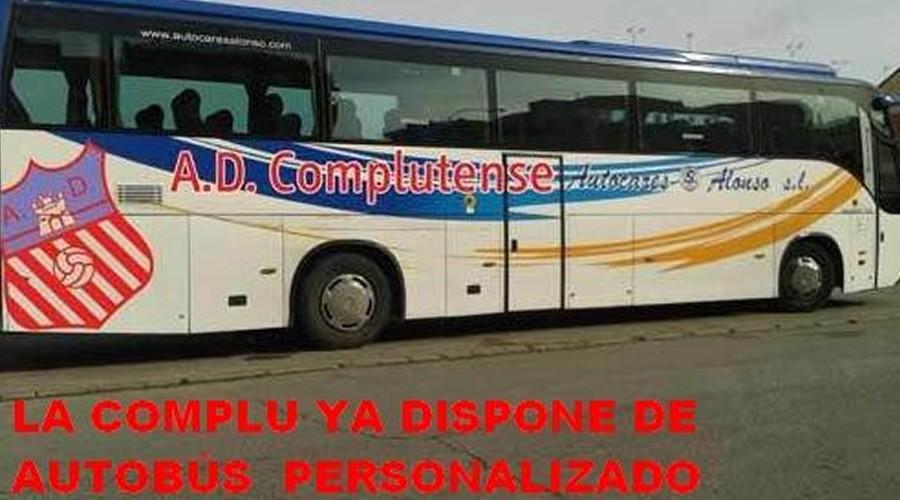 La AD Complutense, único club de Alcalá con bus personalizado