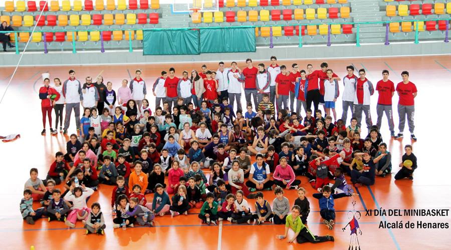 Nuevo éxito del XI Día del MiniBasket en Alcalá de Henares