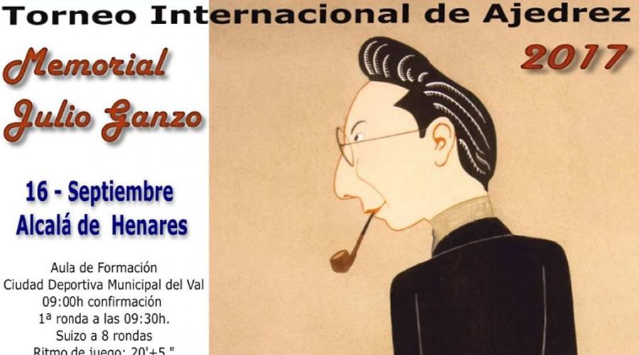 ¡Inscríbete en el Torneo Internacional de Ajedrez Memorial Julio Ganzo 2017!